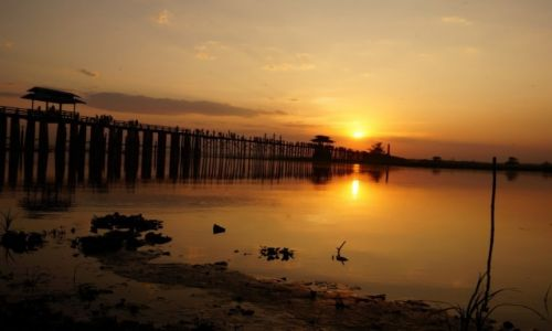 Zdjecie MYANMAR / Mandalay / Mandalay / most tekowy