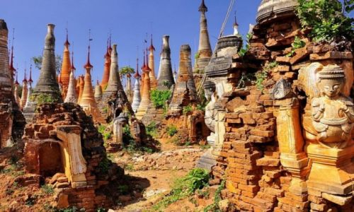 Zdjecie MYANMAR / - / Indein / Wzgórze Indein