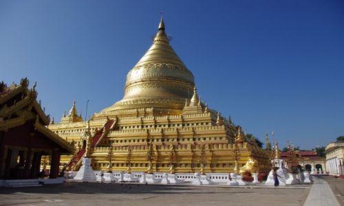 Zdjęcie MYANMAR / Mandalaj / Nyaung-U  ( okolice Bagan ) / Shwezigon Pagoda