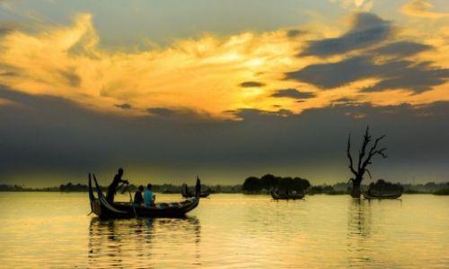 Zdjecie MYANMAR / Amarapura / Taung Tha Man Lake / Amarapura, zachód słońca 2