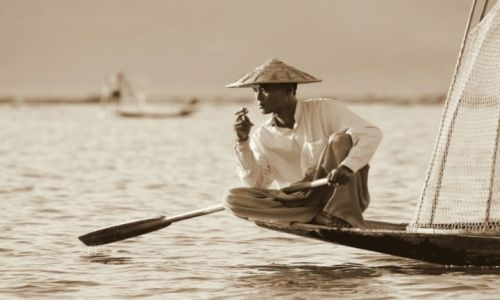 Zdjęcie MYANMAR / Inle Lake / Inle Lake / Jezioro
