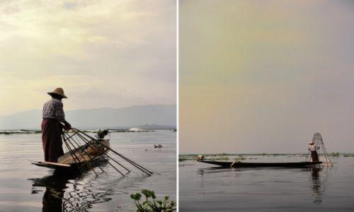 Zdjecie MYANMAR / Jezioro Inle / Jezioro Inle / Zachód nad Jeziorem Inle