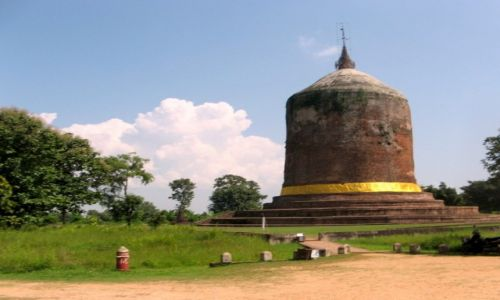 MYANMAR / Okolice Pyain / Sri Ksetra / Pagoda Bawbawgyi