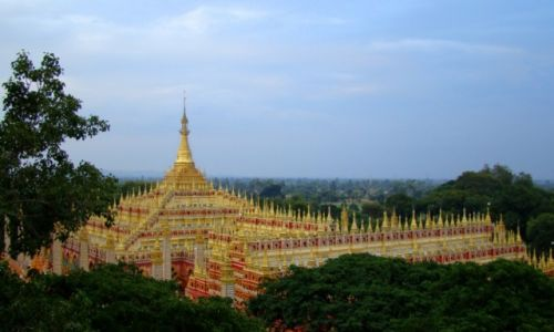 Zdjęcie MYANMAR / Górna Birma /  Mohnyin Thambuddhei  / Pagoda  Mohnyin Thambuddhei