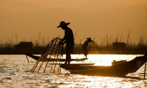 MYANMAR / Inle Lake / Inle Lake / Połów