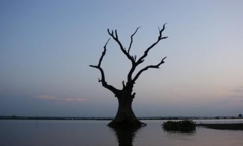 Zdjecie MYANMAR / -Mandalay / Amarapura / Pod mostem Tekowym