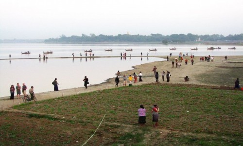 Zdjecie MYANMAR / okolice Mandalay / Amarapura / okolice mostu U Bein