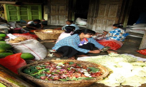 Zdjecie MYANMAR / okolice Mandalay / Amarapuraaa / przygotowanie posiłku