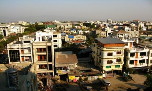 Zdjecie MYANMAR / Mandalay / Mandalay / panorama miasta