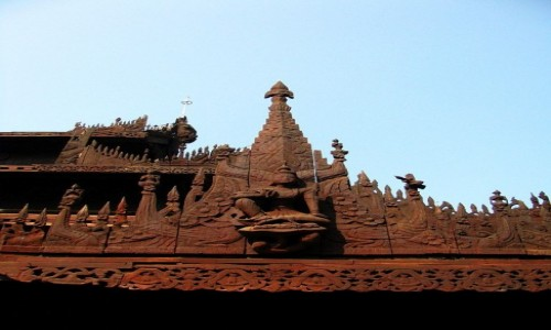 Zdjęcie MYANMAR / Mandalay / Mandalay / Klasztor Shwe in Bin - detal