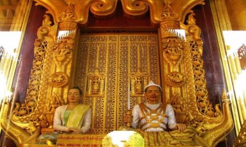 Zdjęcie MYANMAR / Mandalay / Mandalay / pałac królewski - detal