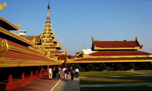Zdjecie MYANMAR / Mandalay / Mandalay / pałac królewski