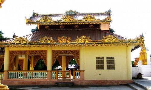 Zdjecie MYANMAR / okolice Mandalay / Sagaing / współczesna architektura sakralna