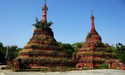 Zdjecie MYANMAR / okolice Mandalay / Sagaing / zapomniane stupy