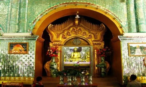 MYANMAR / okolice Mandalay / Sagaing / Kaunghmudaw Paya -detal