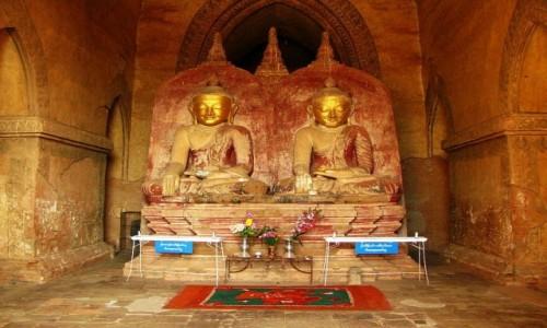 Zdjecie MYANMAR / centralny Myanmar / Bagan / Dhammayazika Paya - podwójny Budda