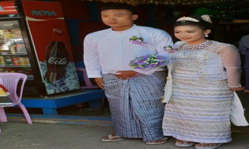 Zdjecie MYANMAR / Kin Pun / Golden Rock / Para Młoda