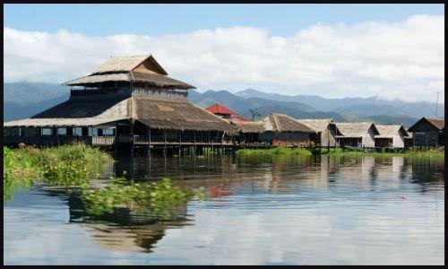Zdjecie MYANMAR / brak / Inle Lake  / wioska na jeziorze