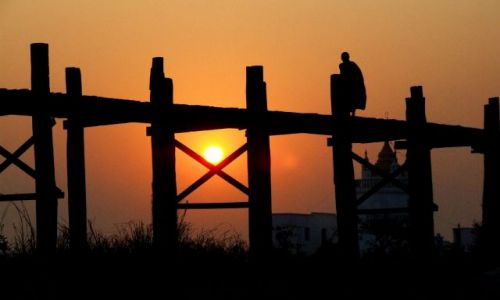 Zdjecie MYANMAR / Myanmar / most UBein / widok