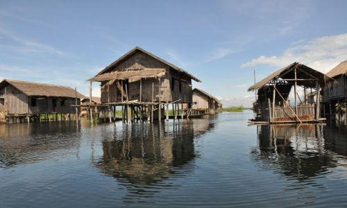 Zdjęcie MYANMAR / brak / Inle Lake / Domki na Inle Lake