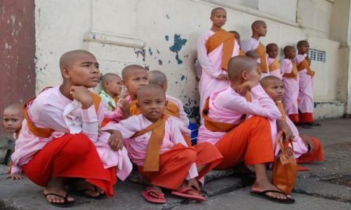 Zdjecie MYANMAR / Rangun / Rangun / Mniszki z Rangun