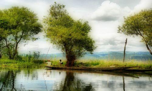 Zdjecie MYANMAR / Prowincja Shan / Jezioro Inle ( Inle lake ) / dzień powszedni rybaków