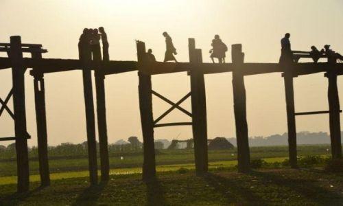 Zdjecie MYANMAR / - / Anarapura / Most u Bein