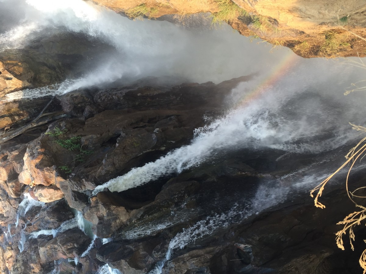 Zdjęcia: Epupa Falls, Pn Namibia, Tecza, NAMIBIA