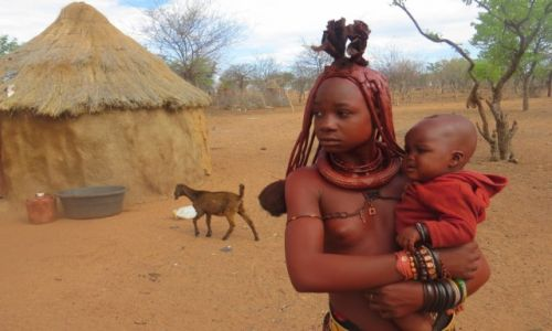 Zdjecie NAMIBIA / Namibia / wioska Himba / Plemie Hima