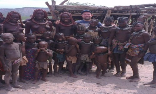 Zdjęcie NAMIBIA / Opuwo / Himba Village / we wiosce Himba