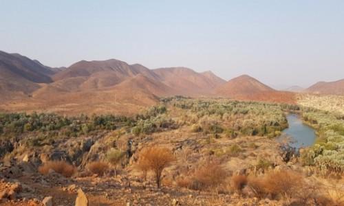 Zdjecie NAMIBIA / Północna Namibia / Rzeka Kunene / Wodospady Epupa / Rzeka Kunene
