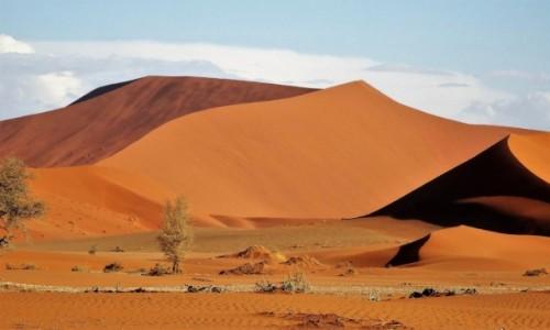 NAMIBIA / Namib Naukluft NP / Pustynia Namib / Kolory pustyni o 17.59