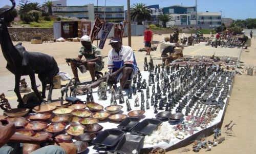Zdjecie NAMIBIA / Swakopmund / targ koło plaży / Special price, my friend!!