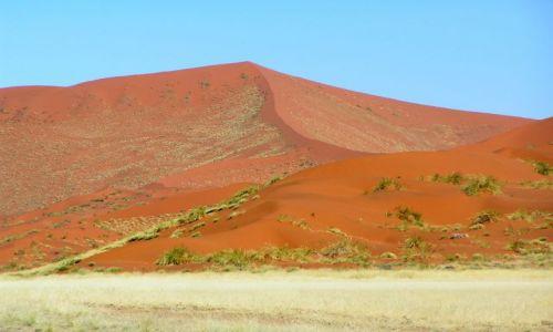 NAMIBIA / brak /  Sossusvlei / czerwone wydmy