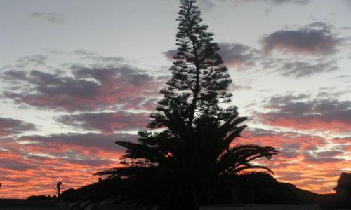 NAMIBIA / brak / Swakopmund / zachód słońca w Swakopmund