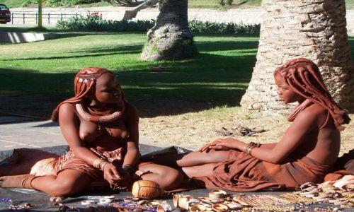 Zdjecie NAMIBIA / brak / Swakopmund / dziewczyny Himba