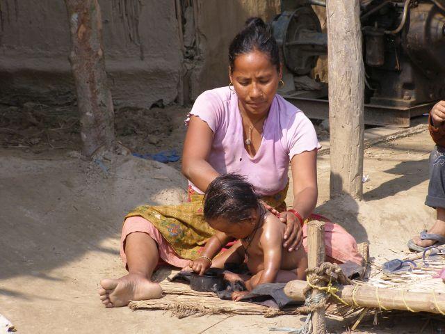Zdjęcia: Nepal, W nepalskiej wiosce, NEPAL