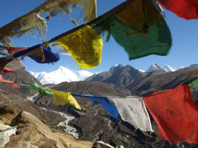 Zdjęcia: Mong Lo, Khumbu-Gokyo, Flagi modlitewne, NEPAL