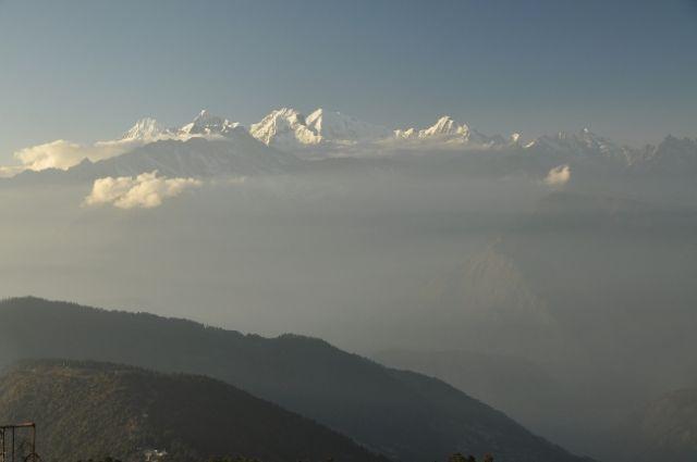Zdjęcia: Laurebina, Laurebina, Ganesh Himal o zachodzie, NEPAL