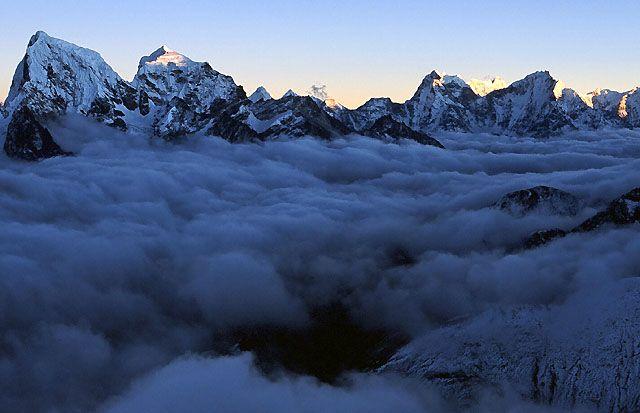 Zdj�cia: Trekking w rejonie Mount Everestu, Himalaje, Na szczycie Gokyo Ri, NEPAL