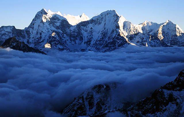Zdjęcia: Trekking w rejonie Mount Everestu, Himalaje, Widok  z  Gokyo Ri, NEPAL
