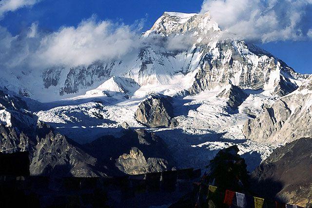 Zdj�cia: Trekking w rejonie Mount Everestu, Himalaje, Widok z Gokyo Ri, NEPAL