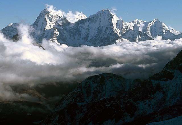 Zdjęcia: Trekking w rejonie Mount Everestu, Himalaje, Na szczycie Gokyo Ri, NEPAL