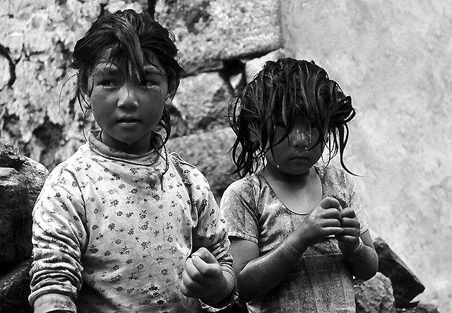 Zdjęcia: Baza Annapurna, Nepal, Nepal na  b & w, NEPAL
