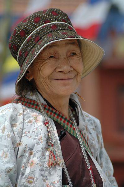 Zdjęcia: Bodnath, Tybetanka, NEPAL