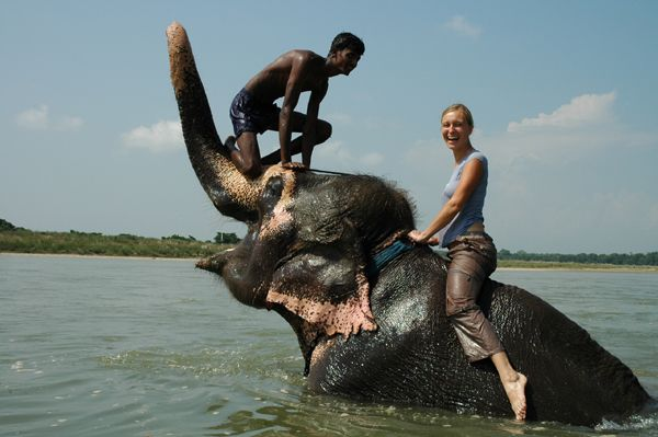 Zdj�cia: Royal Chitwan National Park, Madzia w Royal Chitwan National Park, NEPAL