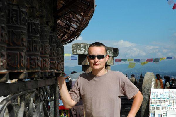 Zdj�cia: Swayambhunath - okolice Kathmandu, Wojti w Swayambhunath, NEPAL