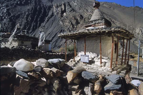 Zdjęcia: Szlak wokół Annapurny, Stupa w Kagbeni, NEPAL