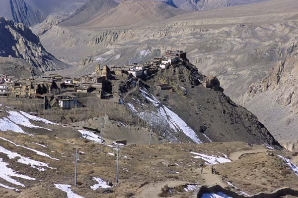 Zdjęcia: Szlak wokół Annapurny, Miasteczko-forteca Jharkot, NEPAL