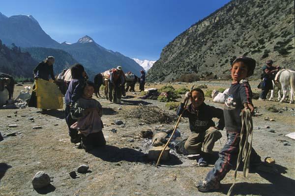 Zdjęcia: Szlak wokół Annapurny, Koczownicy w dolinie Kali Gandaki, NEPAL
